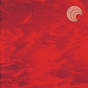 Red/ White Wispy Fusible 96 coe
