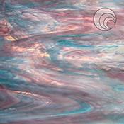 Aqua-Rose (Clear/White/Aqua/Rose) Fusible 96 coe