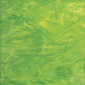 Lime Green/ White Fusible 96 coe
