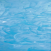 Sky Blue/ White Wispy Fusible 96 coe