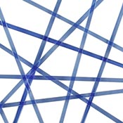 Light Blue Transparent Noodle Fusible 96 COE
