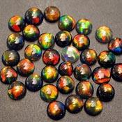Opals - Round - 4mm Black