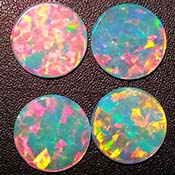 Opals - Round Coins - 15 mm - White