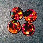 Opals - Round Coin - 8mm - Black