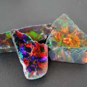 Opals - Rough - Black