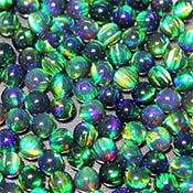 Opals - Spheres - 3 mm - Green