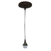 Pendant Light Fixture- Adjustable Cord (Bronze finish)
