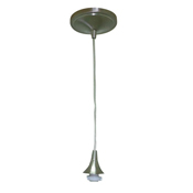 Pendant Light Fixture- Adjustable Cord (Nickel finish)