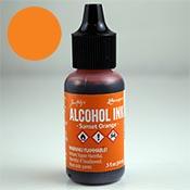 Alcohol Ink Sunset Orange ++