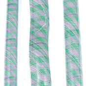 Green and Purple Outside Twst 96 COE Cane (sold by the oz.)