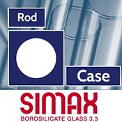 44 mm Simax Clear Rod (~4 pieces/44.66 pound case)
