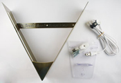Kit - Antique Brass Finish V-Frame and Electrical Fixture