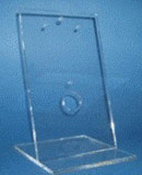 Small (5-3/4 x 6-3/8 x 9-1/4 in. H) Acrylic Display Stand for use with V-Frames