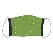 Cloth Masks - Green with White/Black Reversible (3-pack)