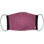 Cloth Masks - Pink with Swirls/Black Reversible (3-pack)