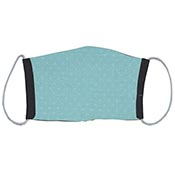 Cloth Masks - Teal with Dots/Black Reversible (3-pack)