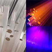 Purple UVLX Occasional Quality 33 COE Rod from South Florida Glassworks (1/4 lb. minimum)