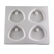 Pendant Tag Tray Mold - Arched Triangle - 7.25 x 6.25 in.