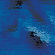 Dark Blue Waterglass - transparent