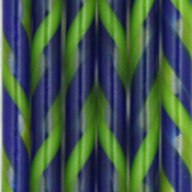Spring Green and Dark Cobalt Twisted 90 COE Cane - approx. 18 in.