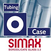 25.4 x 4 x 1500 mm Simax Clear Tubing (~49.5 pound case)