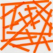 Orange Transparent Noodle Fusible 96 COE