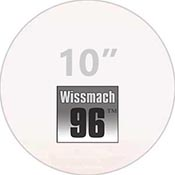 Pre-cut 10 in. Circles Clear Wissmach 96 (package of 10)