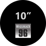Pre-cut 10 in. Circles Black Wissmach 96 (package of 10)