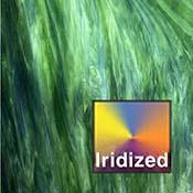 Dark Green Wisspy Opal Iridized