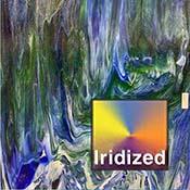Dark Blue / Medium Green Wisspy Opal Iridized