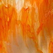 Y96 Clear/ Orange Fusible 96 COE