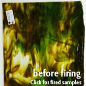 Y96 Woodlands Mix (Fern & Brown Opals & Clear) Fusible 96 COE