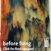 Y96 Tiger Stripes Mix (Orange Opal & Jet Black) Fusible 96 COE