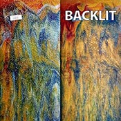 Amber Cathedral with Blue, Red, Green and White Streaks Granite