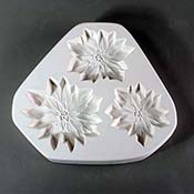 Poinsettia Ornaments Frit Cast Mold - 8.5 x 9.5 in.