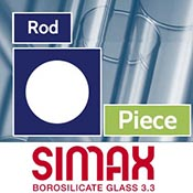 Piece 44 mm Simax Clear Rod