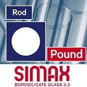 Per Pound 7 mm Simax Clear Rod (1 lb. Minimum)