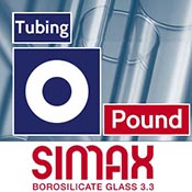 Per Pound 12.7 x 2.4 mm Simax Clear Tubing (1 lb. Minimum)