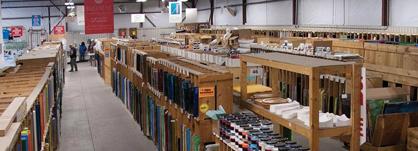 aisles of art glass tools and equipment stained glass fusible dichroic frit kilns molds and more - Colored Glass Sheets